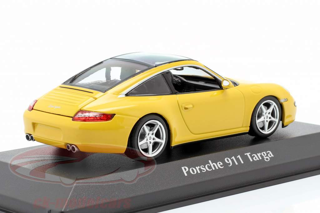 Porsche 911 (997) Targa année de construction 2006 jaune 1:43 Minichamps