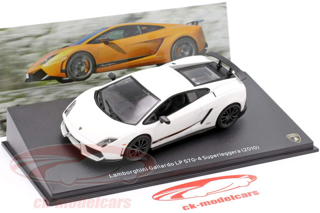 Lamborghini Gallardo LP570-4 Superleggera Année de construction 2010 blanc 1:43 Leo Models