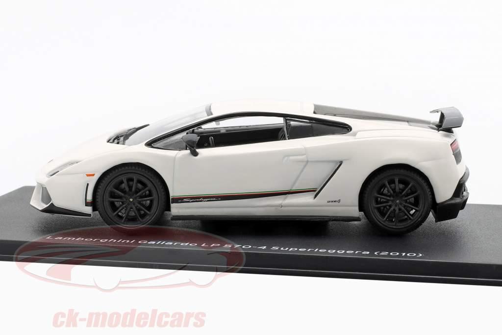 Lamborghini Gallardo LP570-4 Superleggera año de construcción 2010 blanco 1:43 Altaya