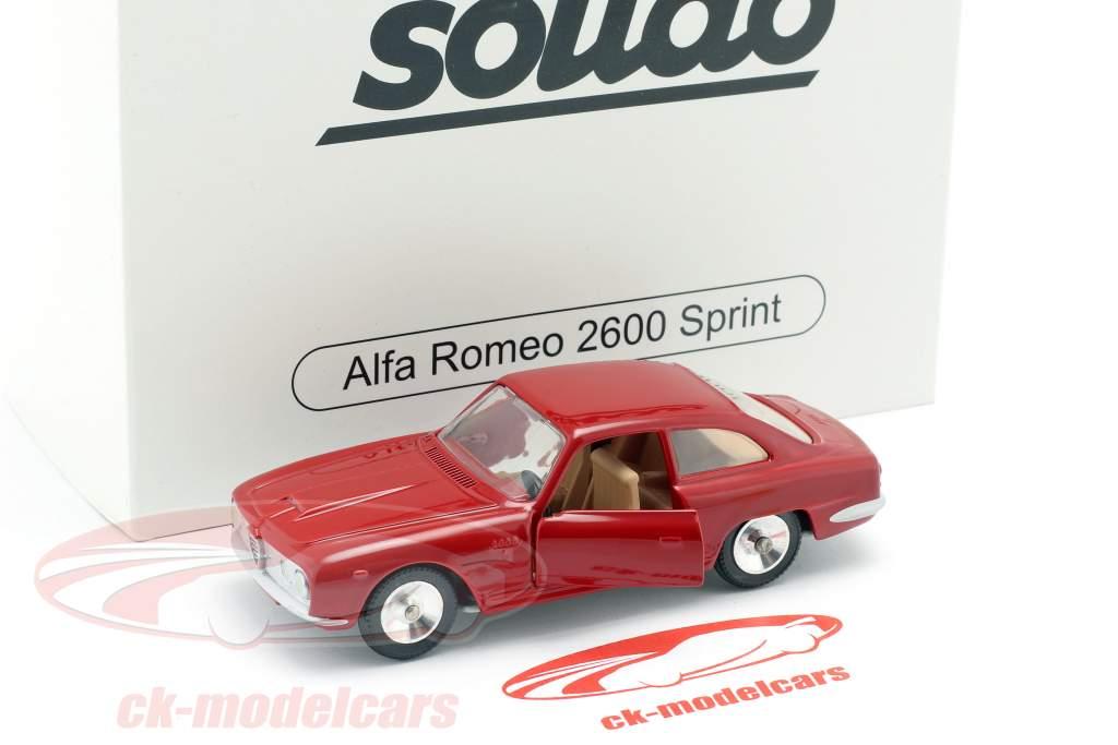 Alfa Romeo 2600 Sprint año de construcción 1966 rojo metálico 1:43 Solido