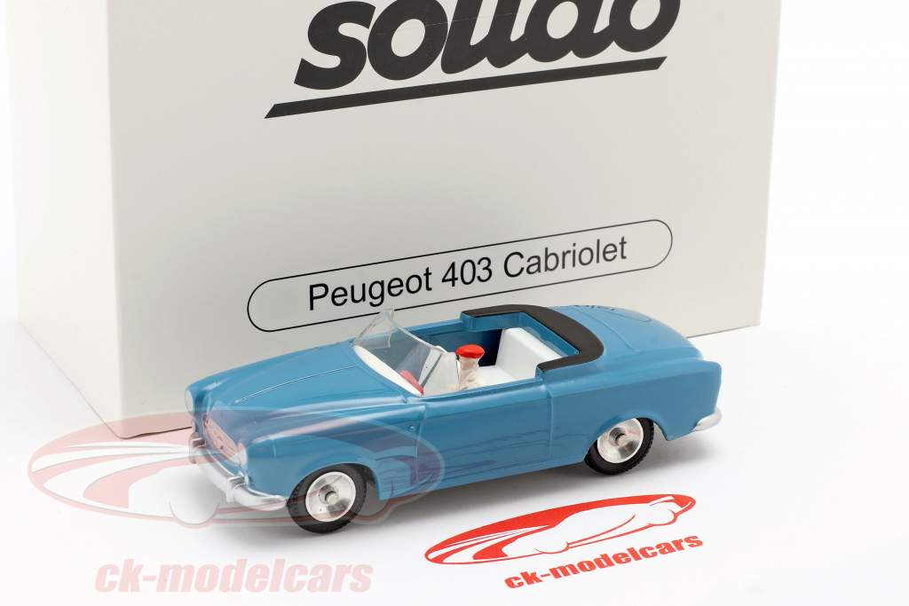 Peugeot 403 Cabriolet year 1959 blue 1:43 Solido