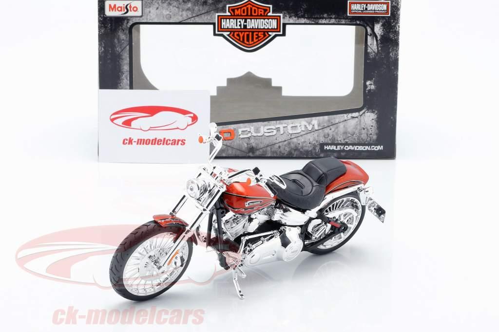 Harley Davidson CVO Breakout anno di costruzione 2014 arancione metallico 1:12 Maisto