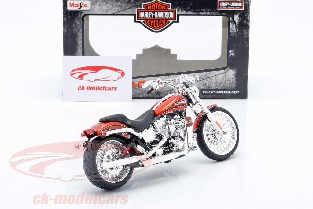 Harley Davidson CVO Breakout Baujahr 2014 orange metallic 1:12 Maisto