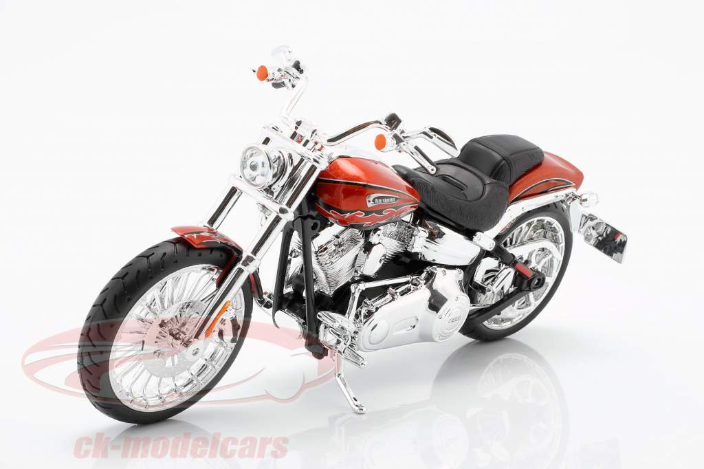 Harley Davidson CVO Breakout año de construcción 2014 naranja metálico 1:12 Maisto