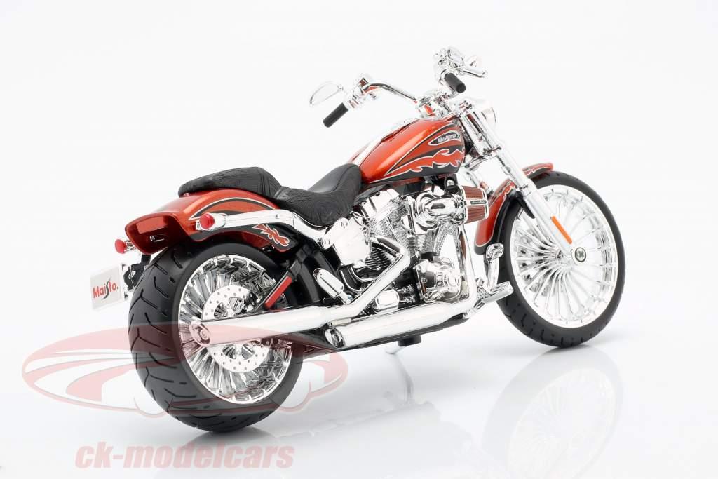 Harley Davidson CVO Breakout Bouwjaar 2014 oranje metalen 1:12 Maisto