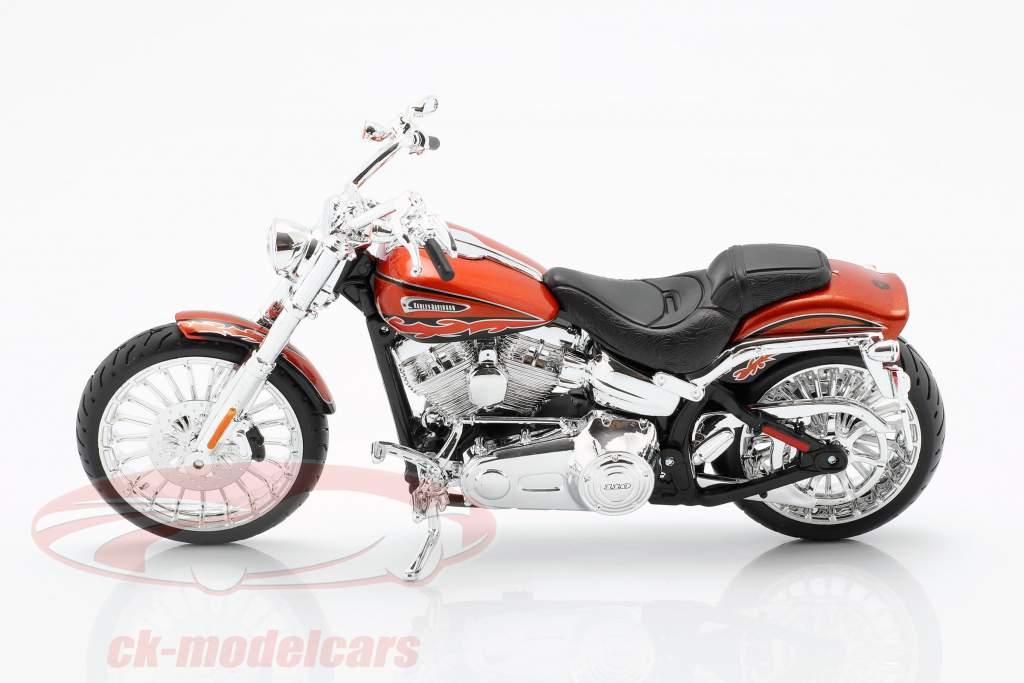Harley Davidson CVO Breakout Opførselsår 2014 appelsin metallisk 1:12 Maisto