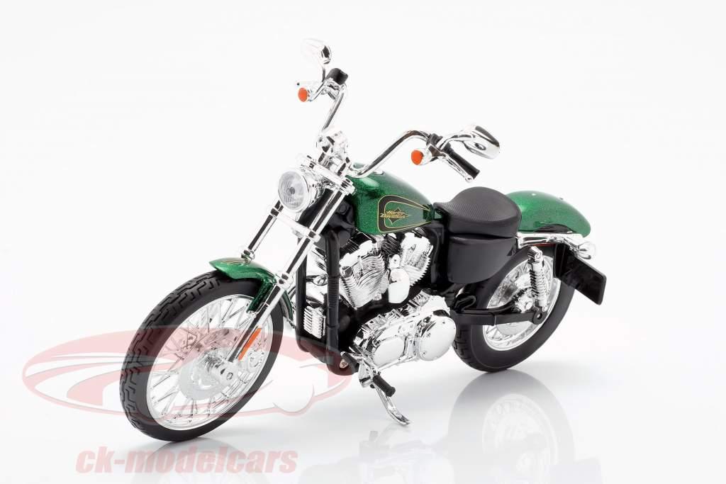 Harley Davidson XL 1200V Seventy-Two Byggeår 2013 grøn metallisk 1:12 Maisto