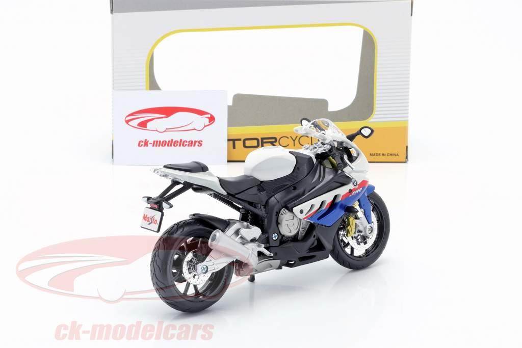BMW S1000 RR bianco / nero / blu / rosso 1:12 Maisto