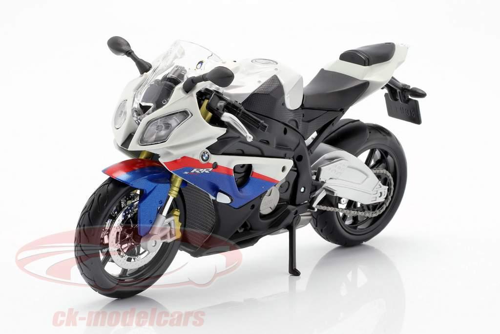 BMW S1000 RR blanco / negro / azul / rojo 1:12 Maisto