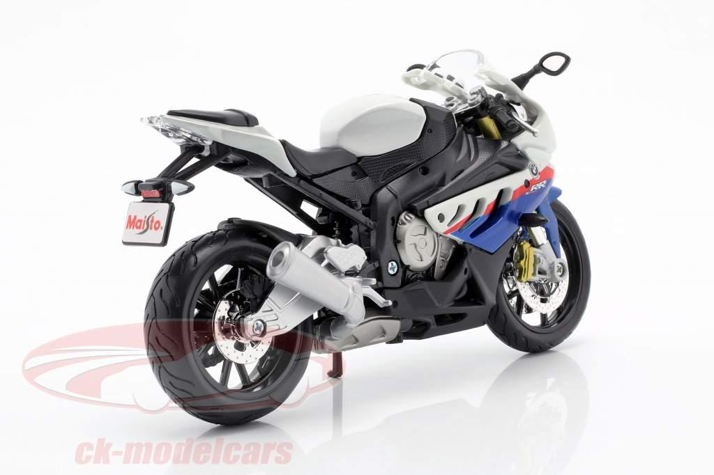 BMW S1000 RR hvid / sort / blå / rød 1:12 Maisto