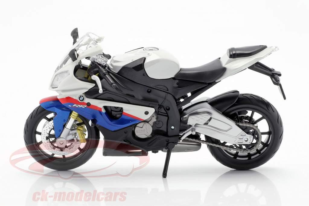 BMW S1000 RR weiß / schwarz / blau / rot 1:12 Maisto