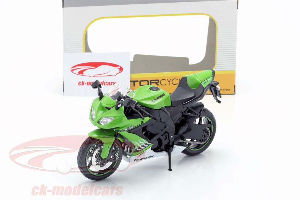 Kawasaki Ninja ZX-10R Opførselsår 2010 grøn / hvid / sort 1:12 Maisto