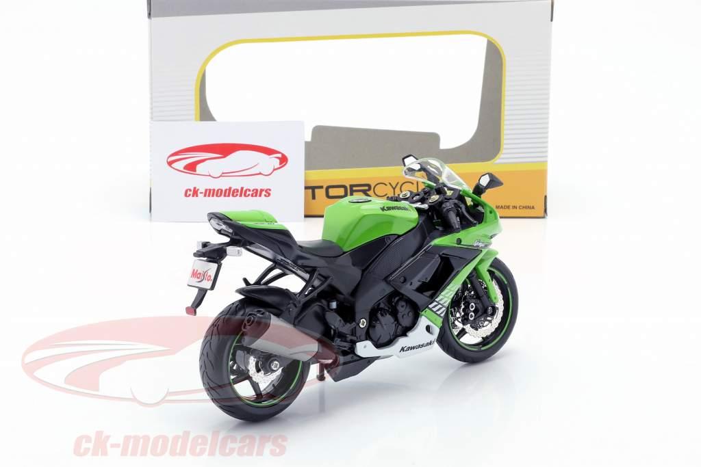 Kawasaki Ninja ZX-10R year 2010 green / white / black 1:12 Maisto