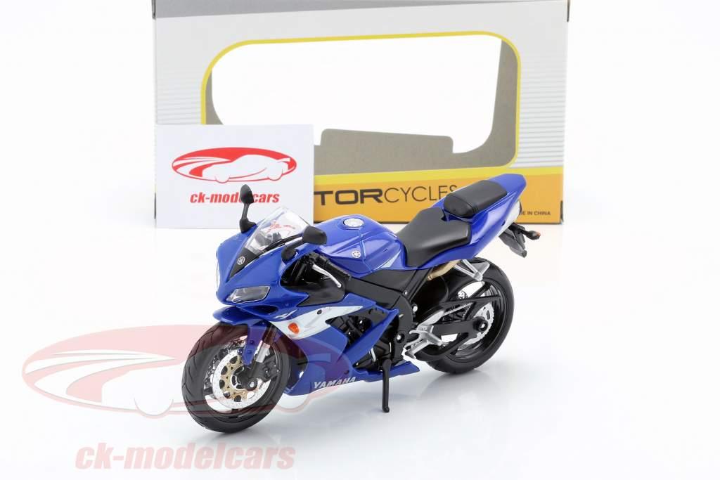 Yamaha YZF-R1 Bouwjaar 2004 blauw / wit / zilver 1:12 Maisto