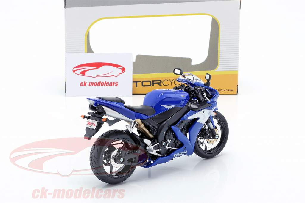 Yamaha YZF-R1 année de construction 2004 bleu / blanc / argent 1:12 Maisto