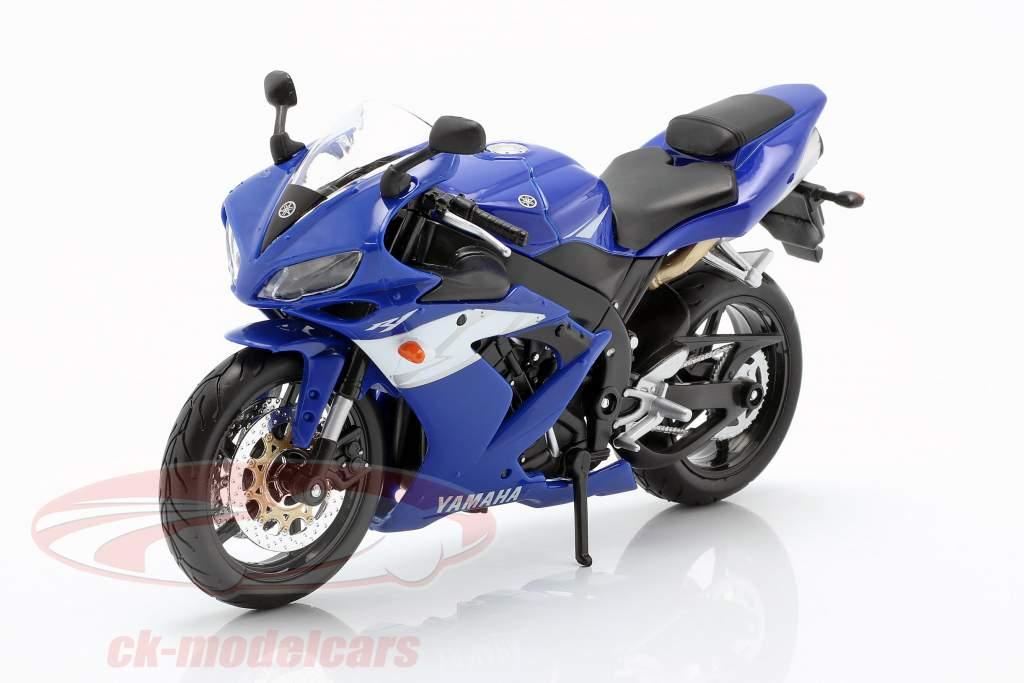 Yamaha YZF-R1 Opførselsår 2004 blå / hvid / sølv 1:12 Maisto