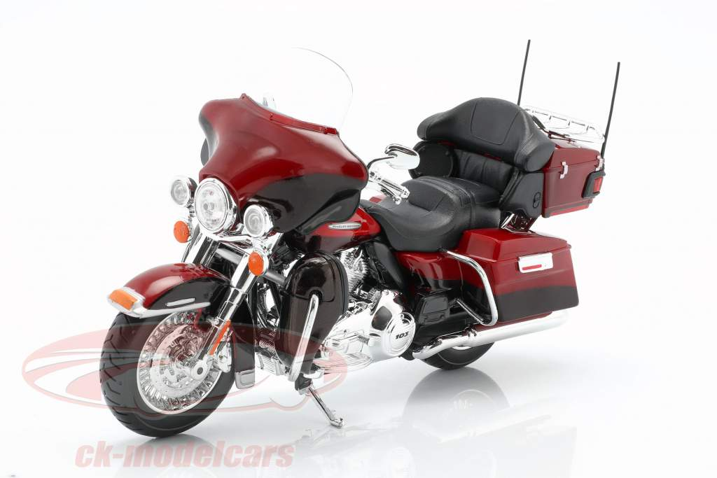 Harley Davidson FLHTK Electra Glide Ultra Limited year 2013 red 1:12 Maisto