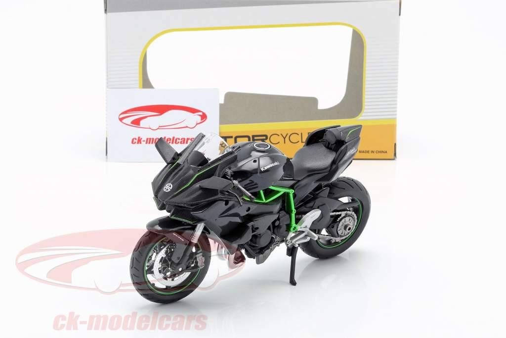 Kawasaki Ninja H2R black / dark grey / green 1:12 Maisto