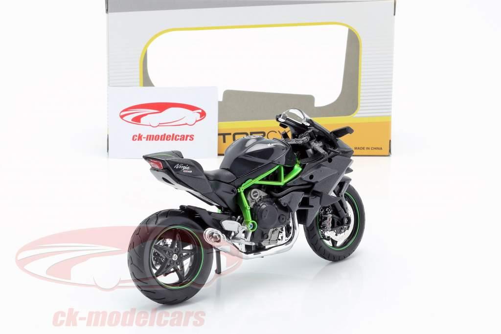 Kawasaki Ninja H2R noir / gris foncé / vert 1:12 Maisto