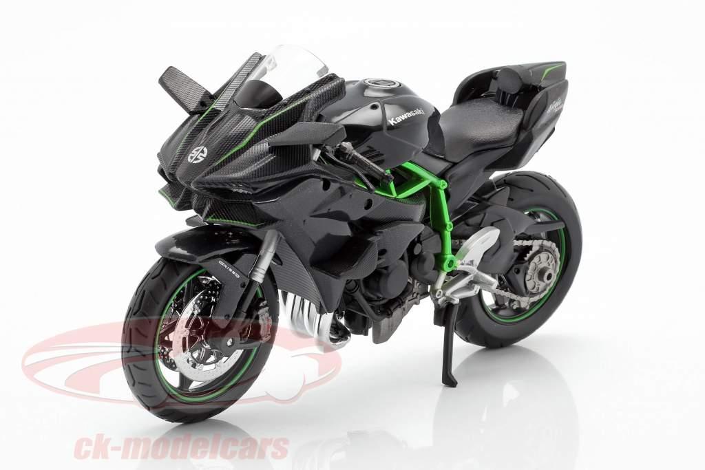 Kawasaki Ninja H2R preto / cinza escuro / verde 1:12 Maisto