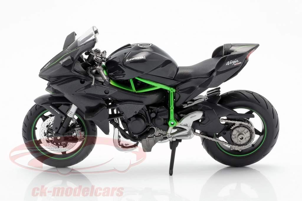 Kawasaki Ninja H2R negro / gris oscuro / verde 1:12 Maisto