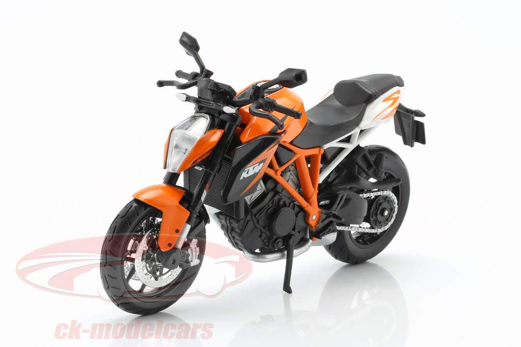 KTM 1290 Super Duke R appelsin / hvid / sort 1:12 Maisto