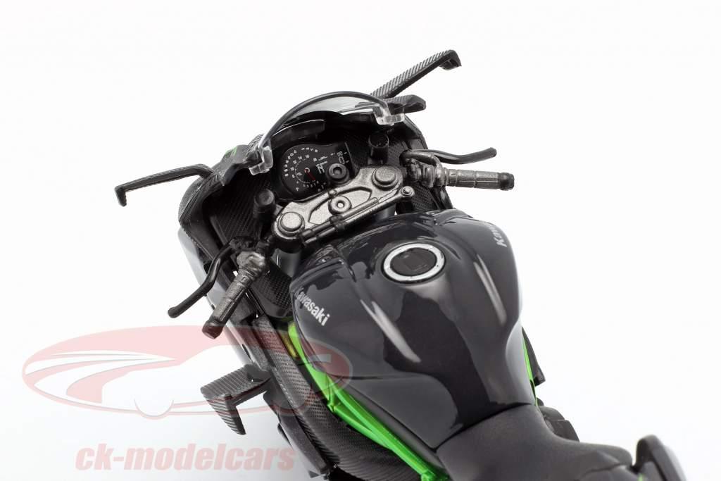 Kawasaki Ninja H2R nero / grigio scuro / verde 1:12 Maisto