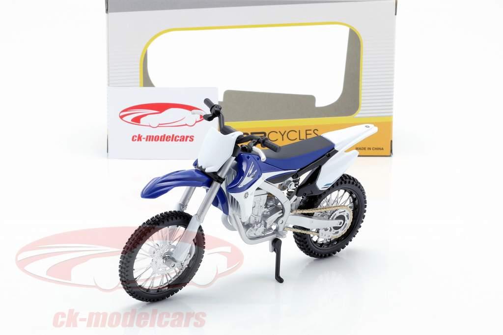 Yamaha YZ450F blu / bianco / nero 1:12 Maisto