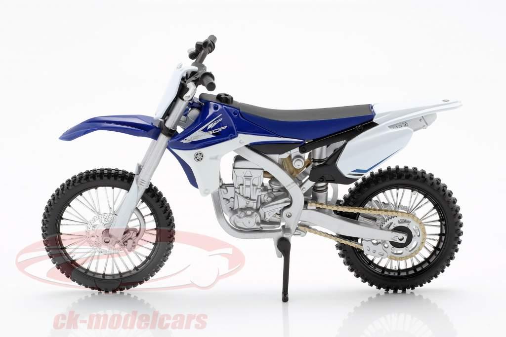 Yamaha YZ450F blauw / wit / zwart 1:12 Maisto