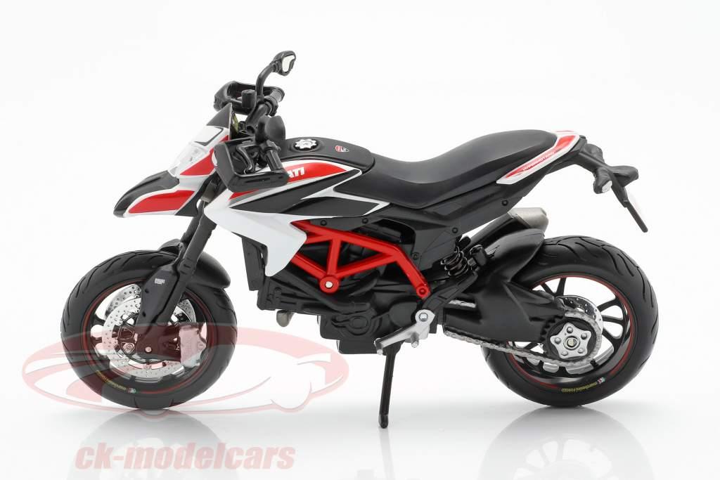 MAISTO 2013 DUCATI HYPERMOTARD SP BIKE MOTORCYCLE 1//12 BLACK WHITE RED 13015