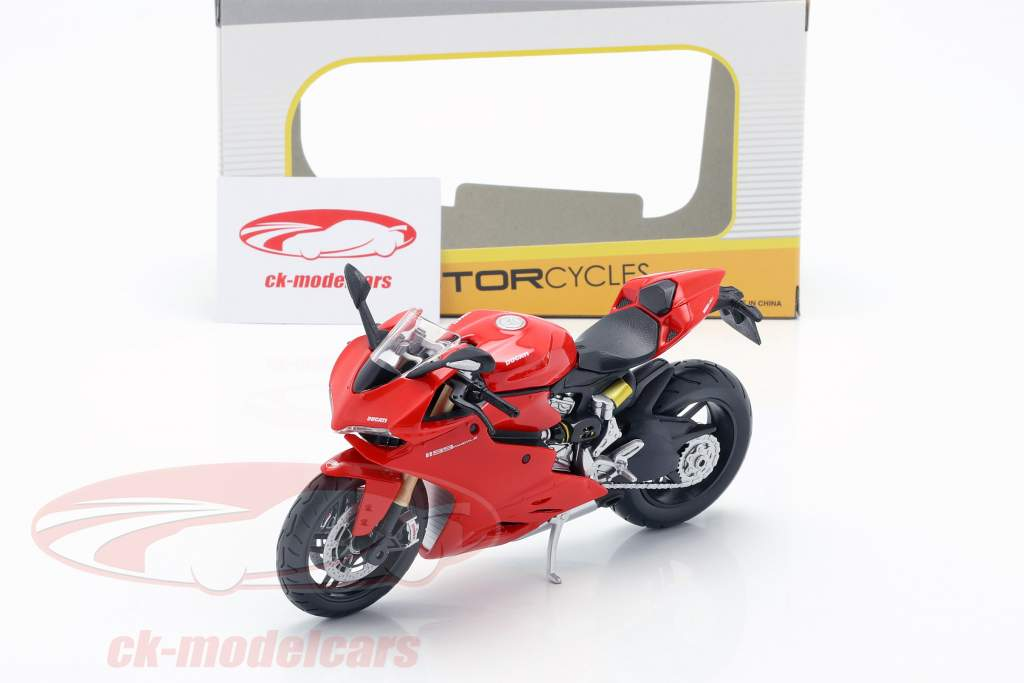 Ducati 1199 Panigale rød / sort 1:12 Maisto