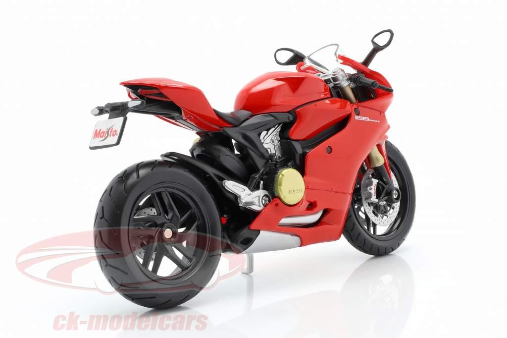 Ducati 1199 Panigale rojo / negro 1:12 Maisto