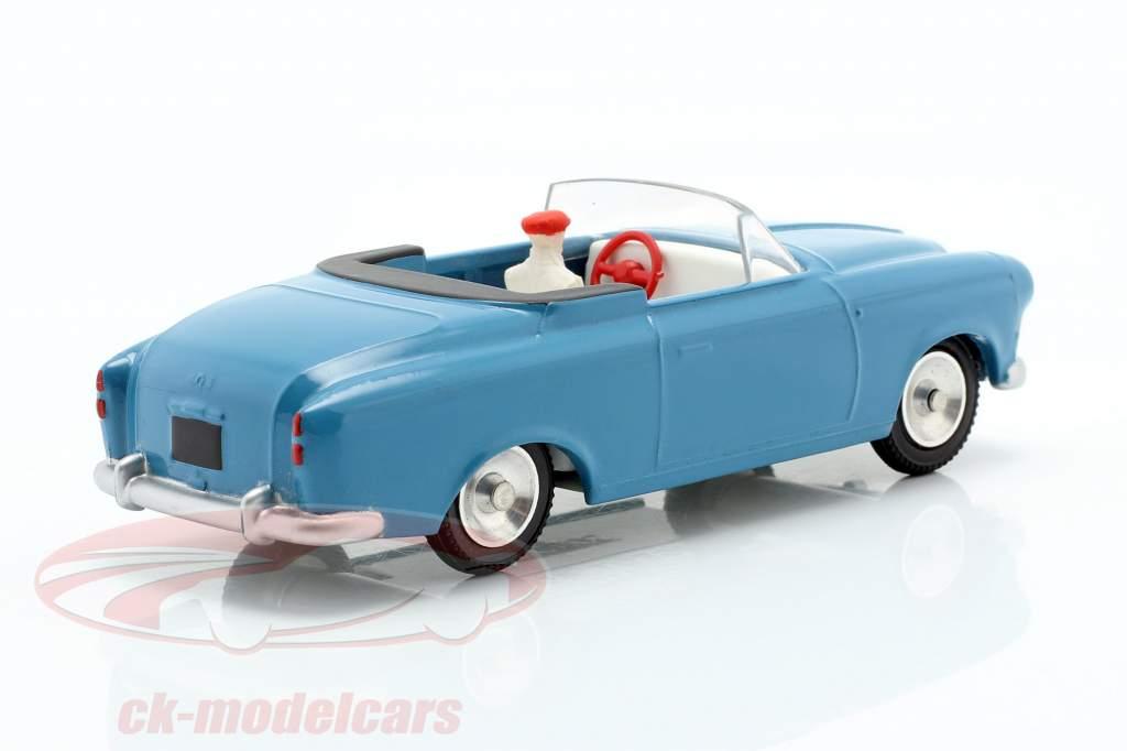 Peugeot 403 Cabriolet Opførselsår 1959 blå 1:43 Solido