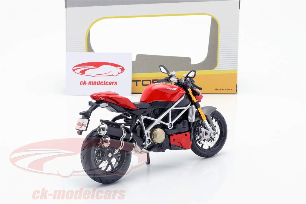 Ducati mod. Streetfighter S rot / schwarz 1:12 Maisto