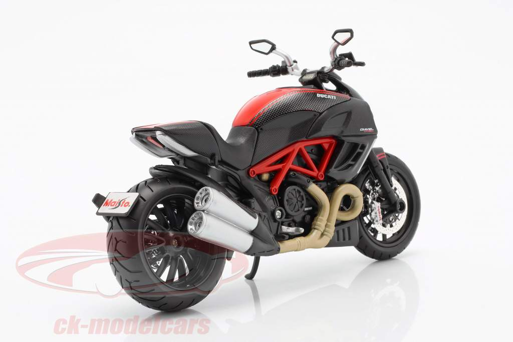 Ducati Diavel Carbon sort / rød 1:12 Maisto