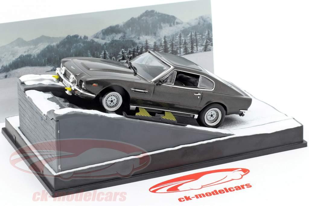 Aston Martin V8 Vantage Auto van de James Bond-film The Living Daylights 1:43 Ixo