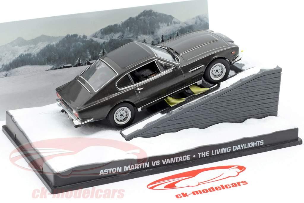 Aston Martin V8 Vantage Carro do filme de James Bond The Living Daylights 1:43 IXO