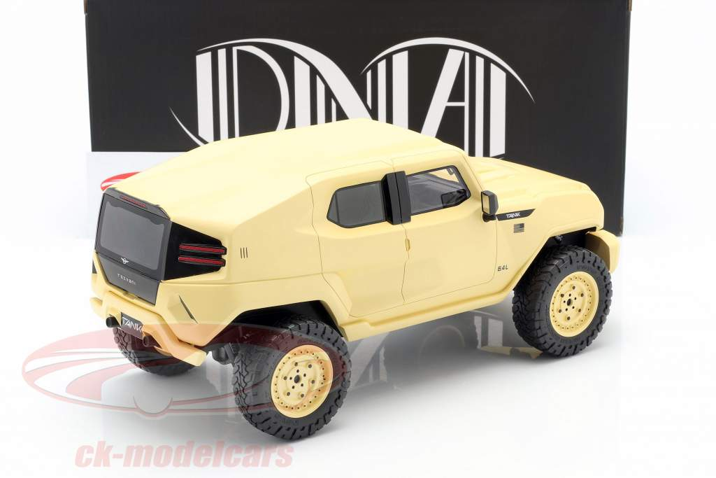 Rezvani Tank Military Edition 2018 beige sable 1:18 DNA Collectibles
