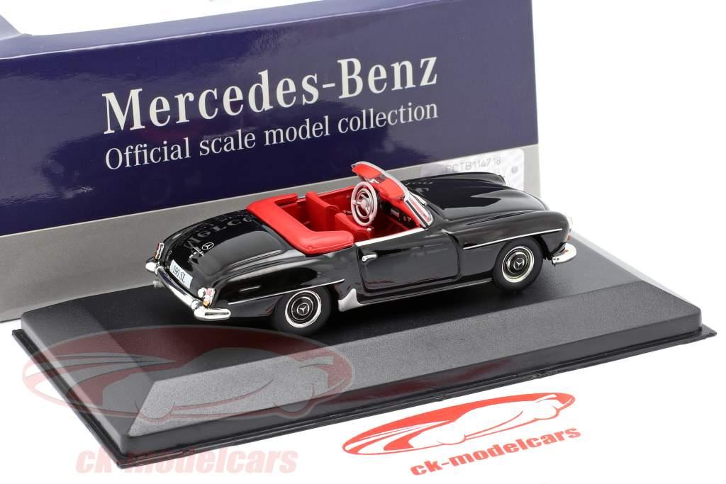 Mercedes-Benz 190 SL (W121) Bouwjaar 1955 zwart 1:43 Atlas
