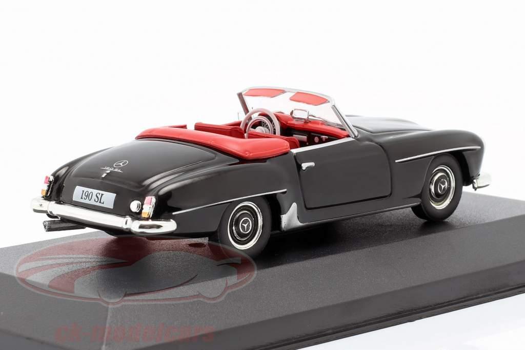 Mercedes-Benz 190 SL (W121) ano de construção 1955 preto 1:43 Atlas