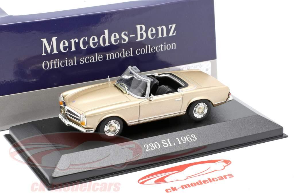 Mercedes-Benz 230 SL (W113) year 1963 gold 1:43 Atlas