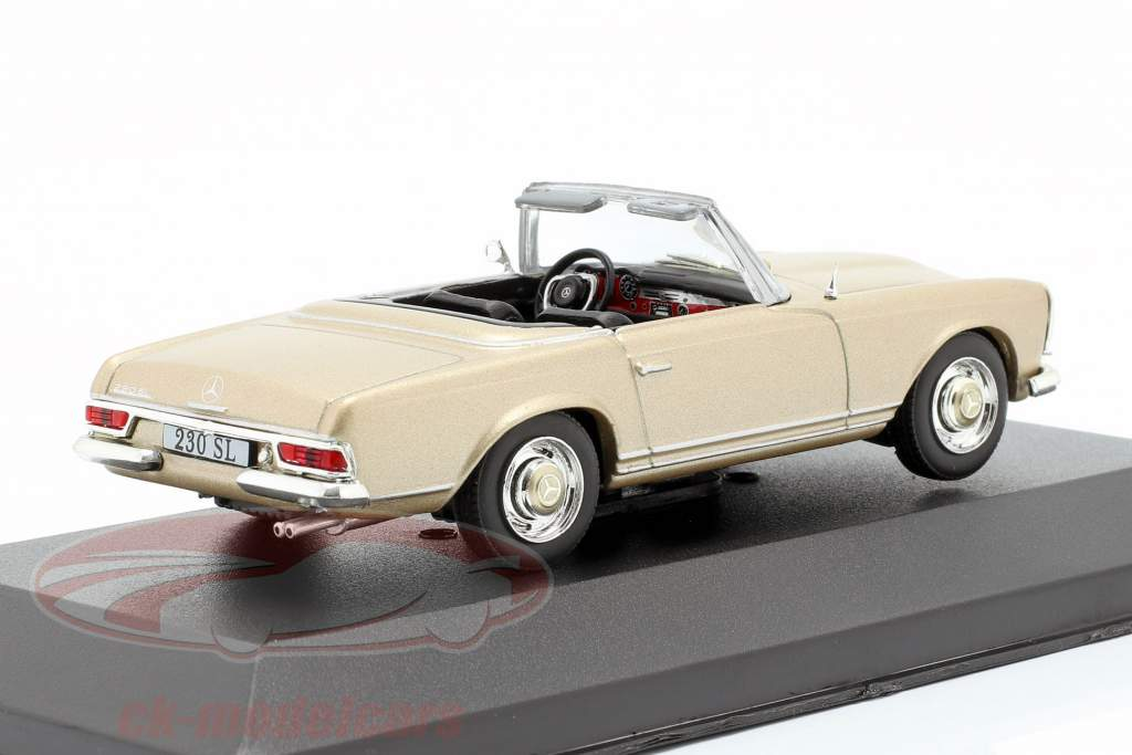 Mercedes-Benz 230 SL (W113) Baujahr 1963 gold 1:43 Atlas