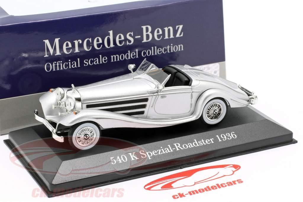 Mercedes-Benz 540K Spezial-Roadster (W29) Baujahr 1936 silber 1:43 Atlas