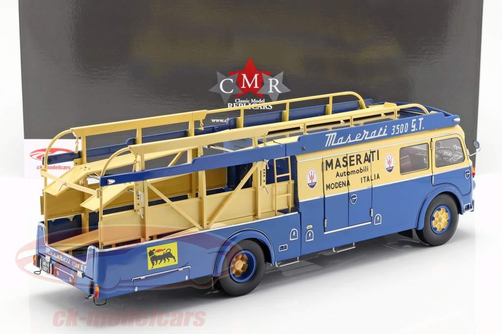 Fiat 642 RN2 Bartoletti Maserati løb lastbil 1957 blå / gul 1:18 CMR