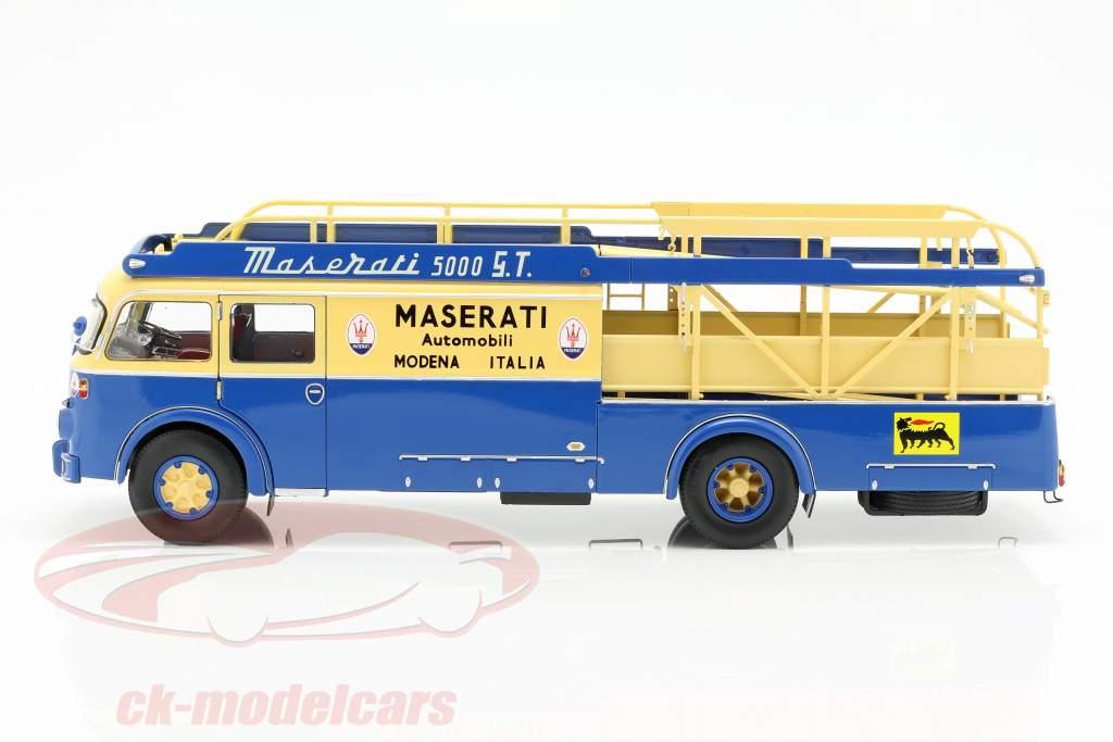 Fiat 642 RN2 Bartoletti Maserati gara camion 1957 blu / giallo 1:18 CMR
