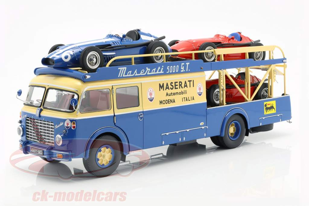 Fiat 642 RN2 Bartoletti Maserati raza camión 1957 azul / amarillo 1:18 CMR