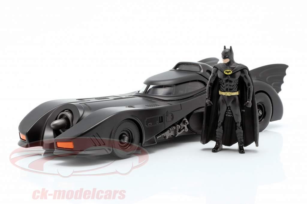 Batmobile con Batman figura película Batman 1989 1:24 Jada Toys