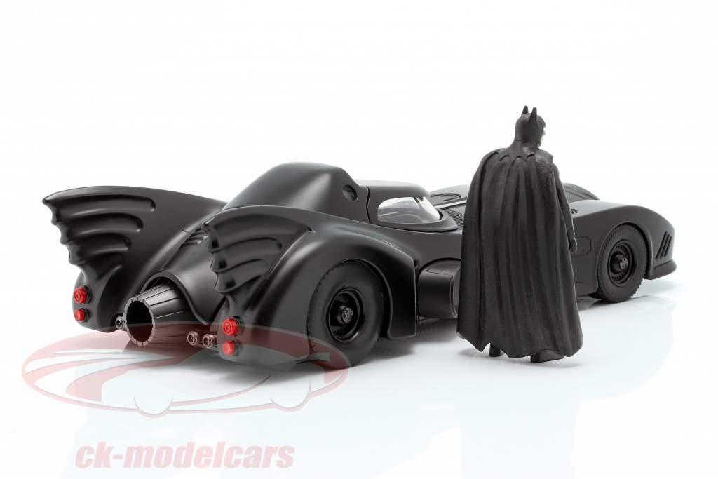 Batmobile met Batman figuur film Batman 1989 1:24 Jada Toys