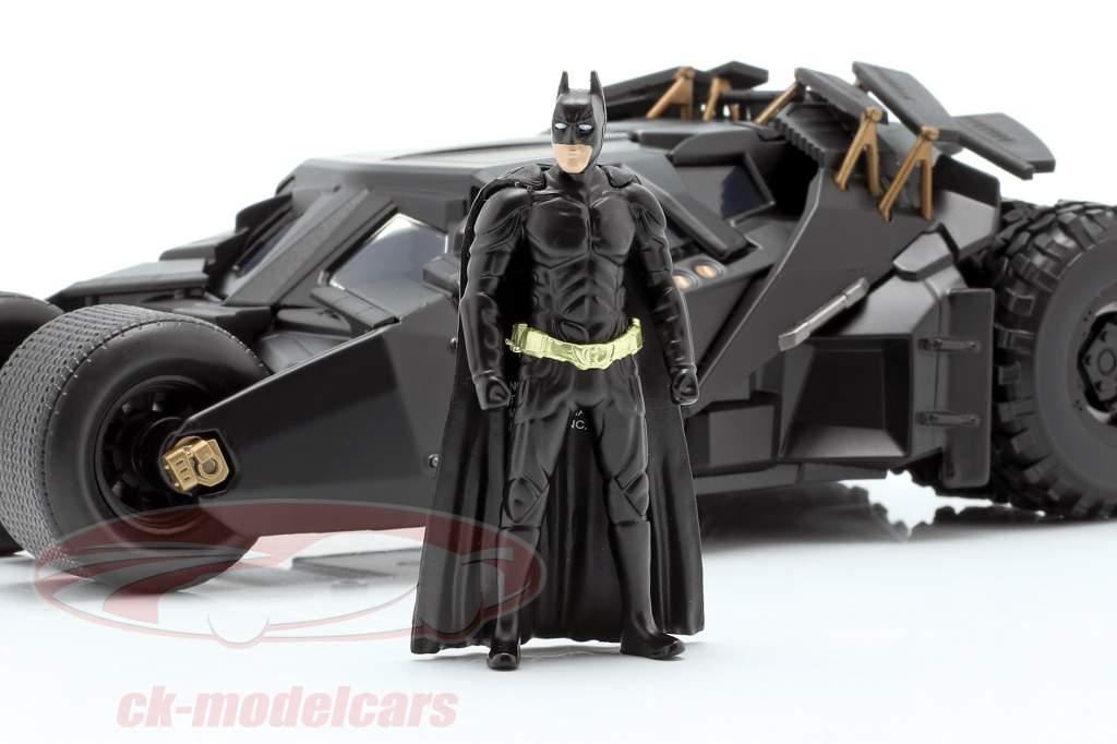Batmobile with Batman figure Movie The Dark Knight 2008 1:24 Jada Toys
