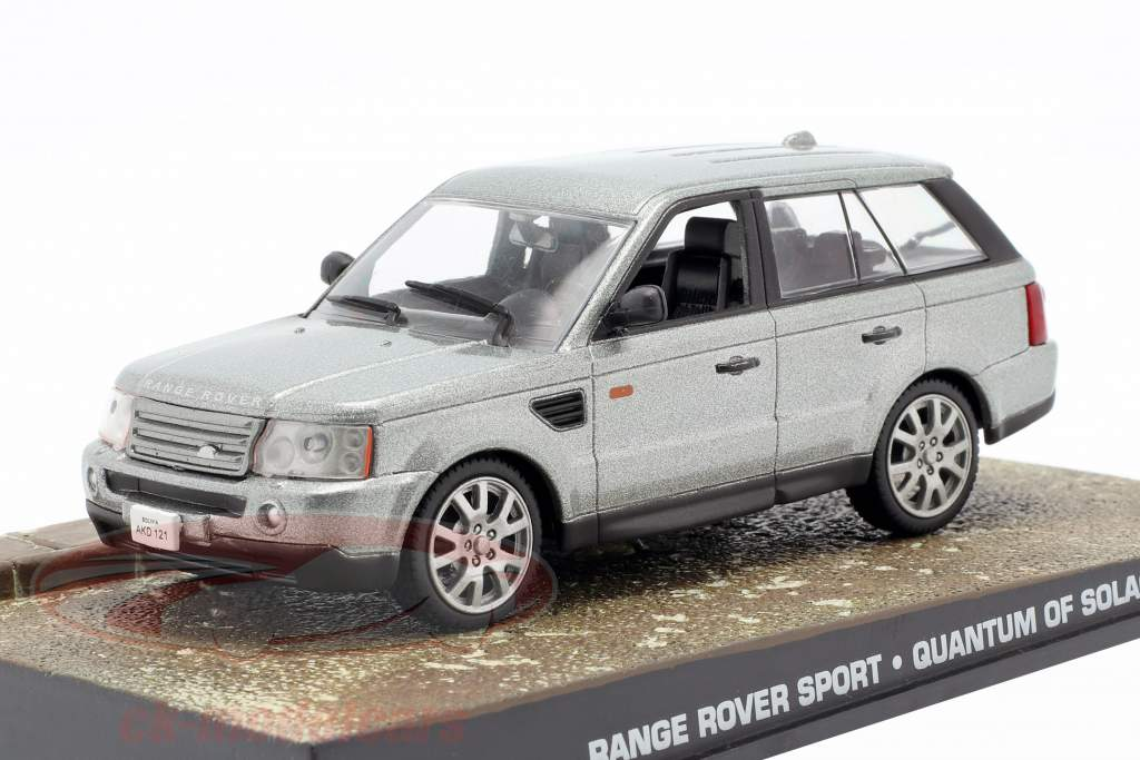 Range Rover Sport Car James Bond Movie Quantum of Solace silver 1:43 Ixo